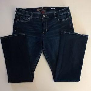 arizona jeans size 19 average bootcut blue denim